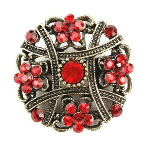 Brooch-Small-Red-Vintage-Style-Flower-Brooch-Fashion-Accessory-Gift-for-Mum
