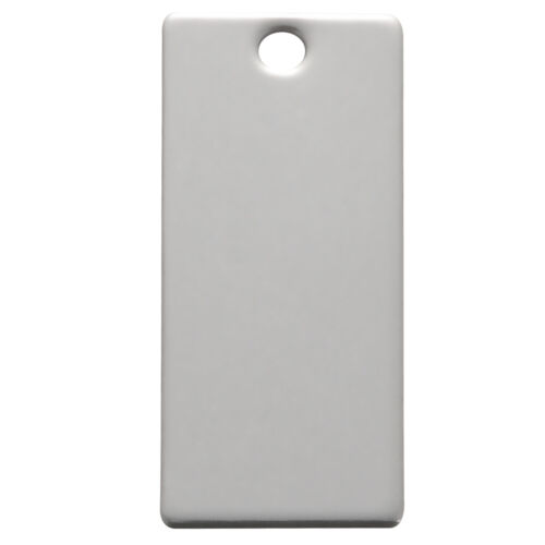 Wholesale Lots Stainless Steel Rectangle Blank Stamping Tags Pendants 25x9mm