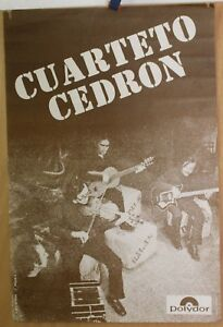 Affiche-Originale-1975-CUARTETO-CEDRON-Polydor