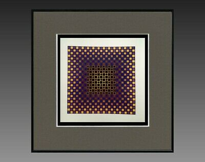 """Constructief Victor Vasarely (1906-1997) Ancienne Serigraphie """" Cynetique """" Vers 1970/75 (26) Verfrissing"""