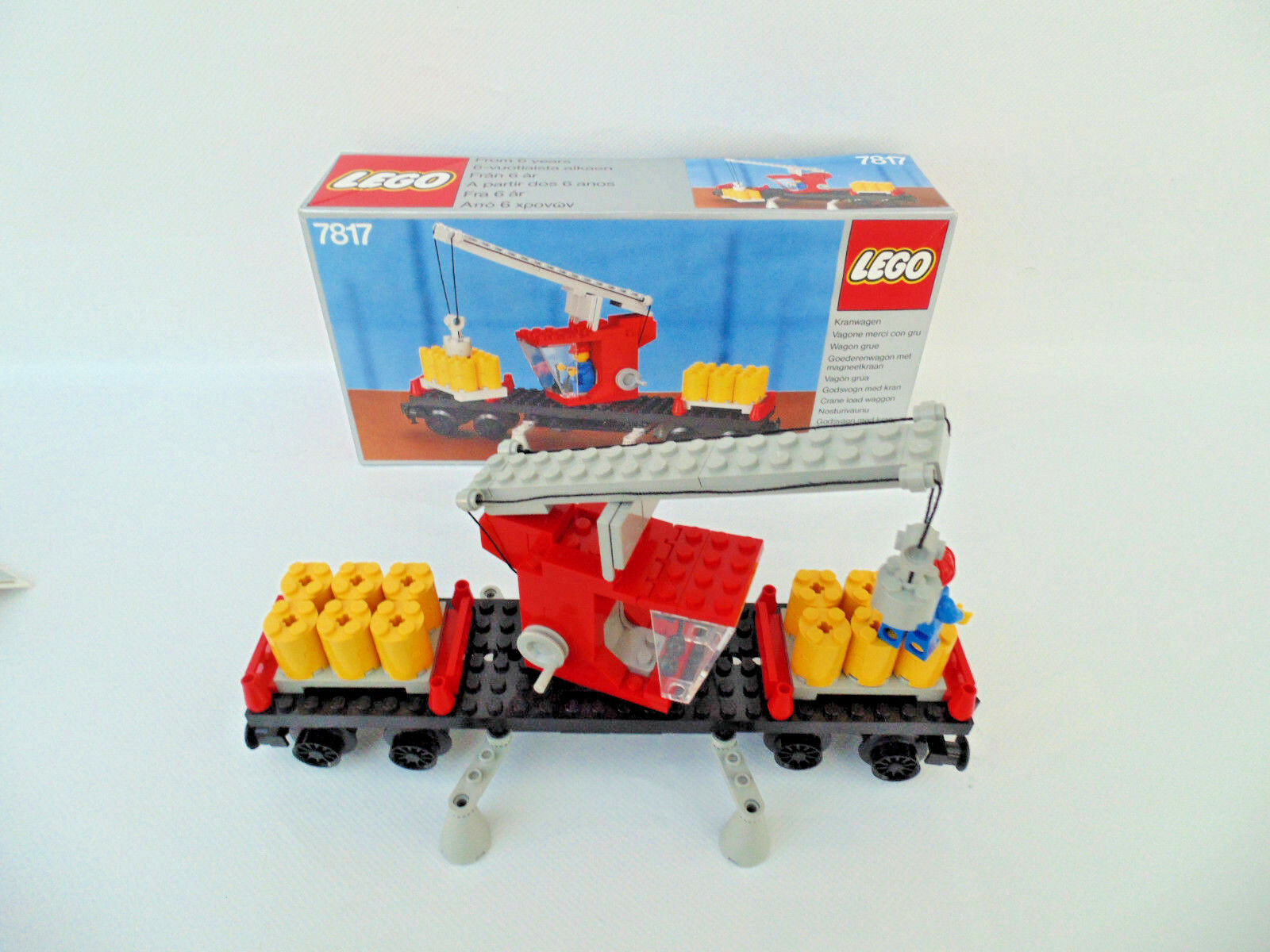 LEGO train 12 V 12 volts, utilitaires, kranwaggon (7817) avec ba  neuf dans sa boîte-TOP