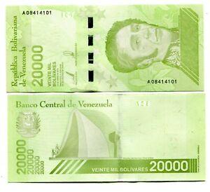 VENEZUELA-20000-BOLIVARES-SOBERANO-2019-P-NEW-UNC