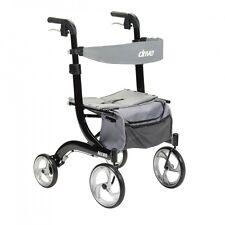 Drive Medical Nitro Euro Rollator Folding Walker Adult 4 Wheels 10266BK *NEW*