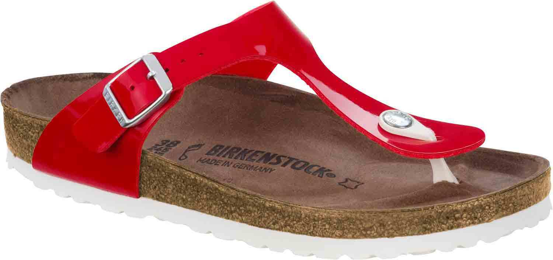 Último gran descuento Birkenstock Gizeh Damen Sandalen Pantoletten 1005297 Normal Rot Tango Neu