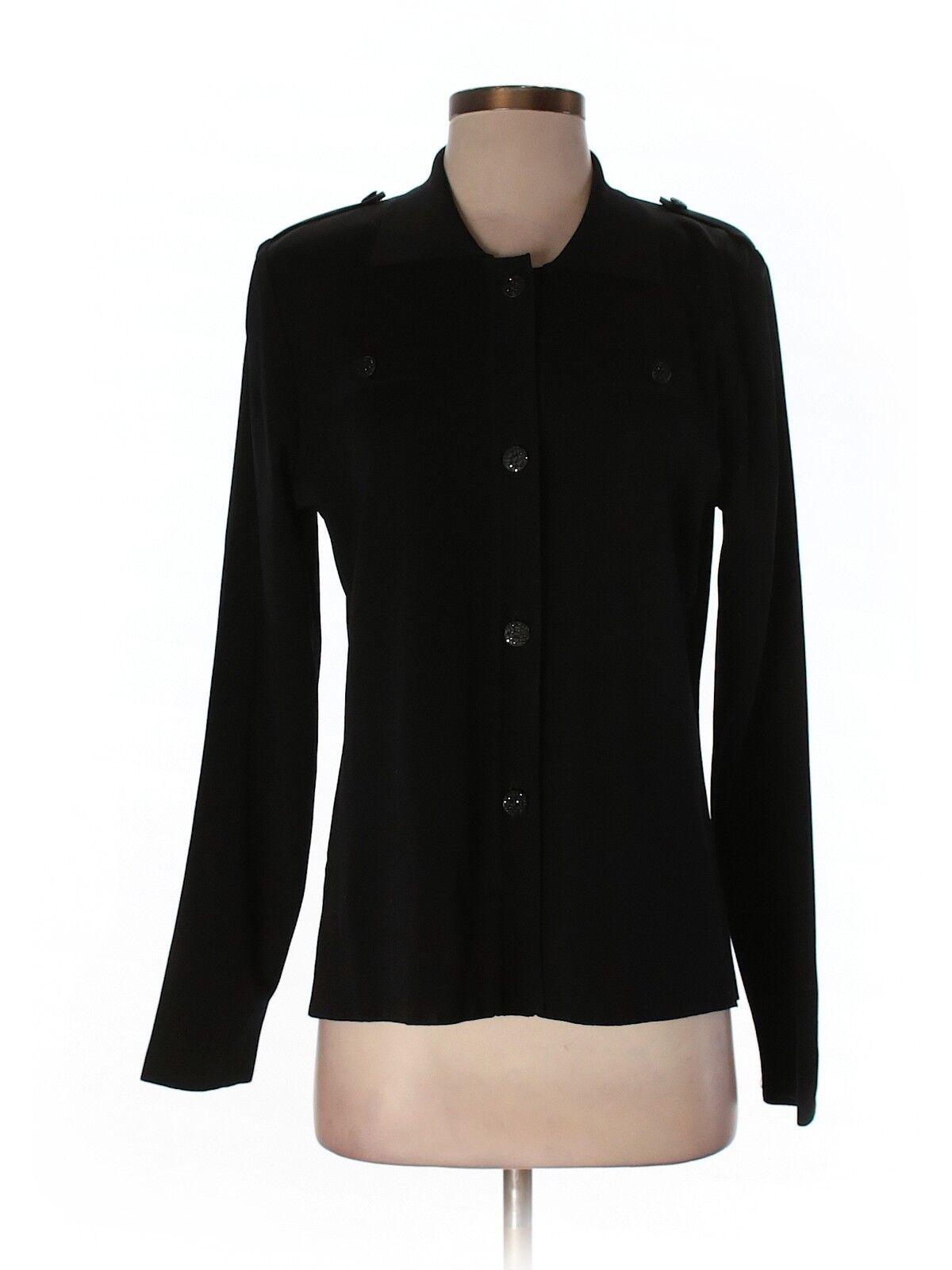 damen Exclusively Misook schwarz Button Front Jacket Größe S