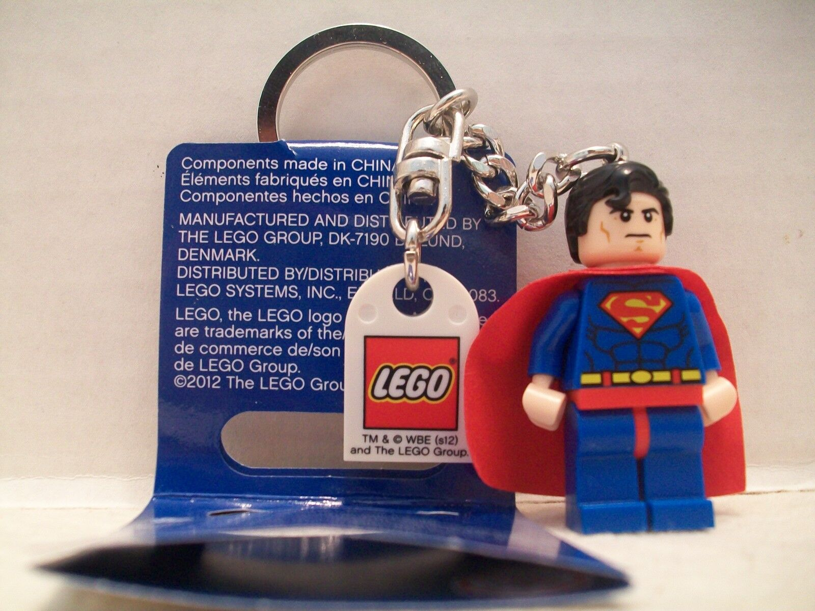 Lego Superman DC DC DC Universe Super Heroes Key Chain RHTF With Tag NIB 2012 62ca45