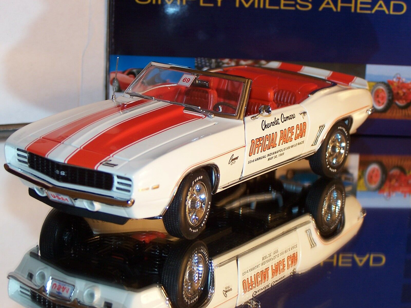 80% di sconto Franklin Mint 1969 Chevrolet Camaro SS INDY INDY INDY 500 Official Pace auto  No.72 5000  a buon mercato