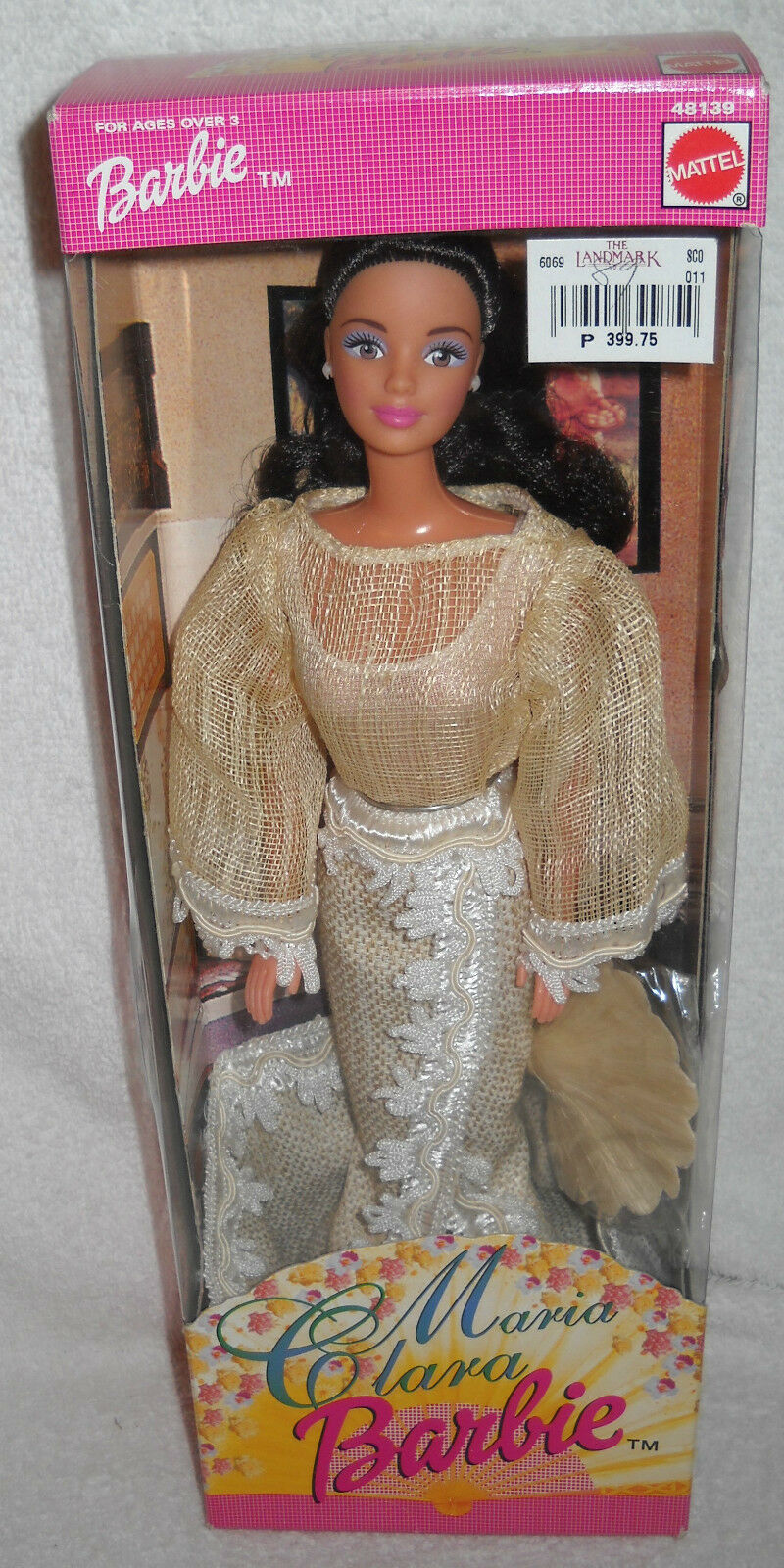 Nunca quitado de la Caja Mattel Filipinas Maria Clara Barbie tema extranjeros