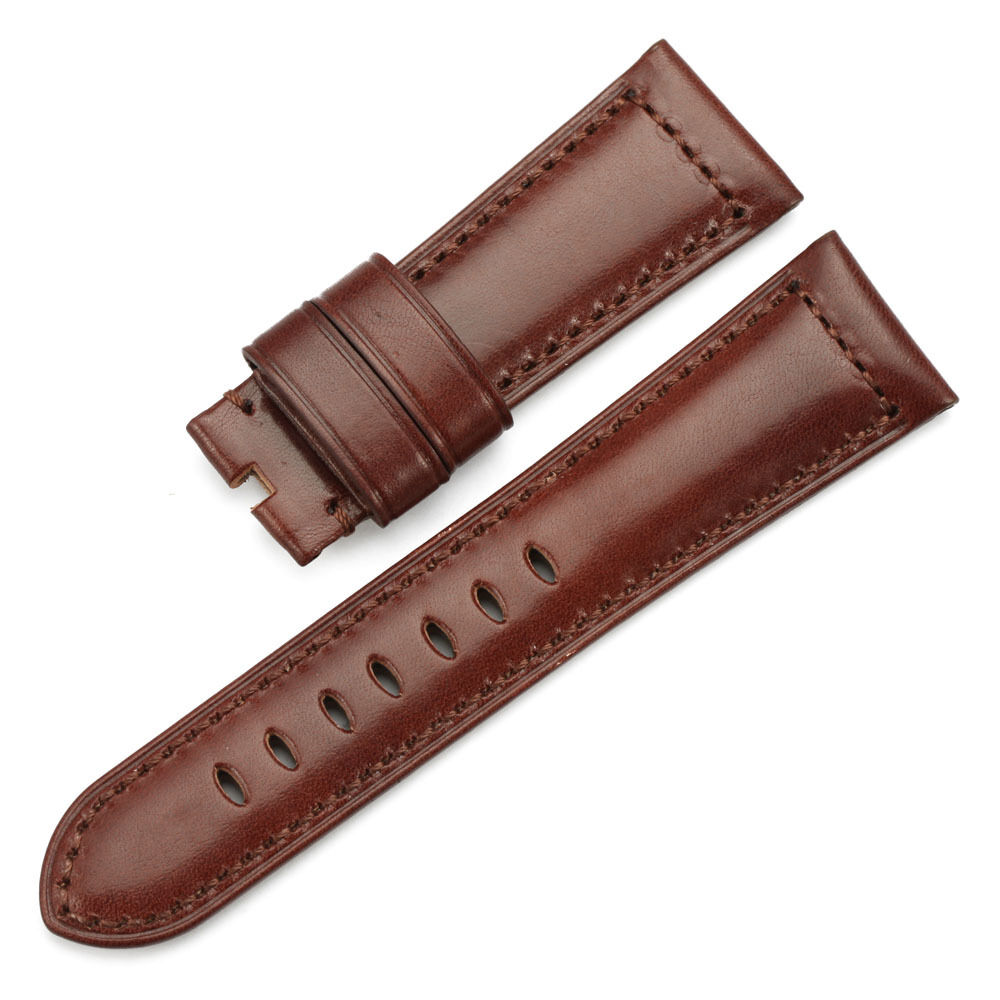 BIG CROCO 26mm LEATHER STRAP Band Antique Brown with Brown PAM 26 BEIGE