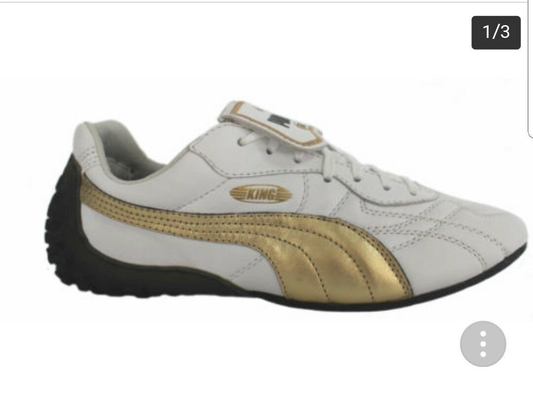 Puma King LS Mens/Boys Trainers White/Gold US Size 8 - never worn