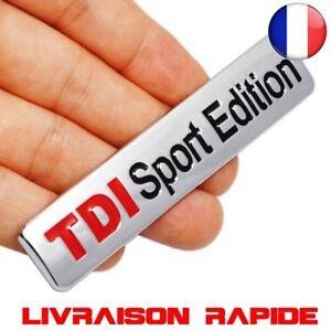 TDI-Sport-Edition-Logo-Turbo-Voiture-Autocollant-Embleme-Chrome-Badge-Volkswagen