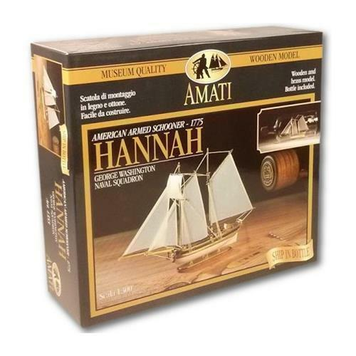 Amati Hannah Ship in a Bottle 1 300 Scale Model Kit