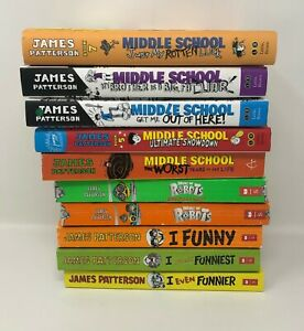 Lot-10-JAMES-PATTERSON-Middle-School-1-4-amp-Treasure-Hunters-1-3