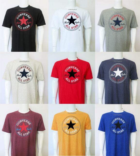 NEW CONVERSE All Star Chuck Taylor Crew Neck T Shirts Sizes S, M, L, XL, XXL