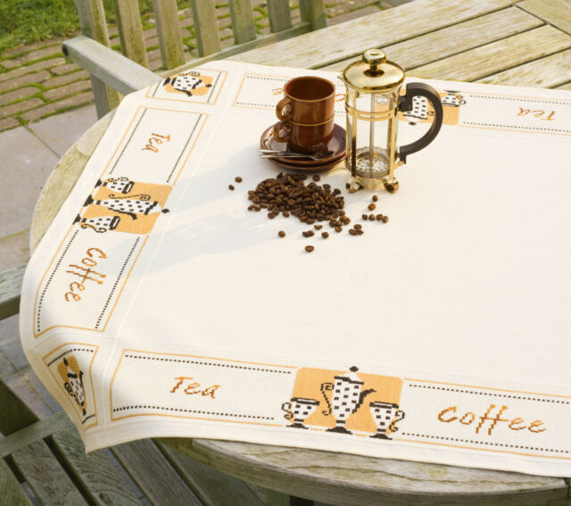VERVACO 0021725 Tablecloth The Or Coffee Embroidery Counted