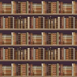 1-12-Scale-Bookcase-Wallpaper-60cm-x-43cm-A2-Size-Tumdee-Dolls-House-596