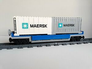 Lego City Custom Container MOC train sets 10219 3677 60098 60052 7939 7898
