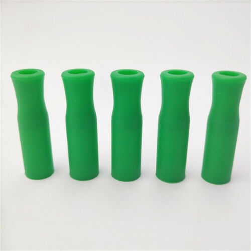 2~50X Food Grade Silicone Tips Cover Suction Nozzle Stainless Steel Drinks Straw