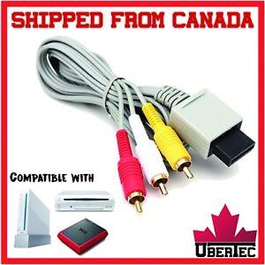 RCA-Cable-For-Nintendo-Wii-Wii-Mini-Wii-U-Cord-Audio-Video-AV-Composite-WiiU