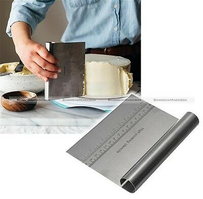 Stainless Steel Smoother Edge Cake Scraper Kitchen Flour Pastry Cake Tool S8