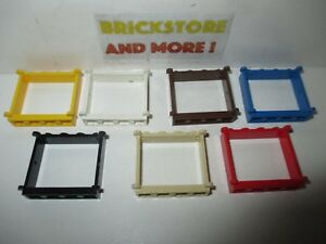 Lego-Window-Fenster-Fenetre-Finestra-1x4x4-Pane-3853-Choose-Color-amp-Quantity