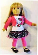 "Doll Clothes HELLO KITTY Fits American Girl Doll, 18"" Dolls 4pc Top,Skirt,Jacket"