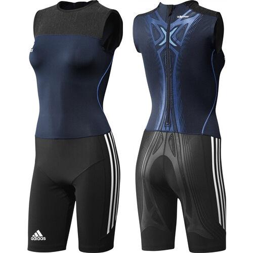 Adidas AdiPOWER Powerweb Suit Leichtathletik Weightlifting Einteiler Anzug damen damen damen ab7ab6