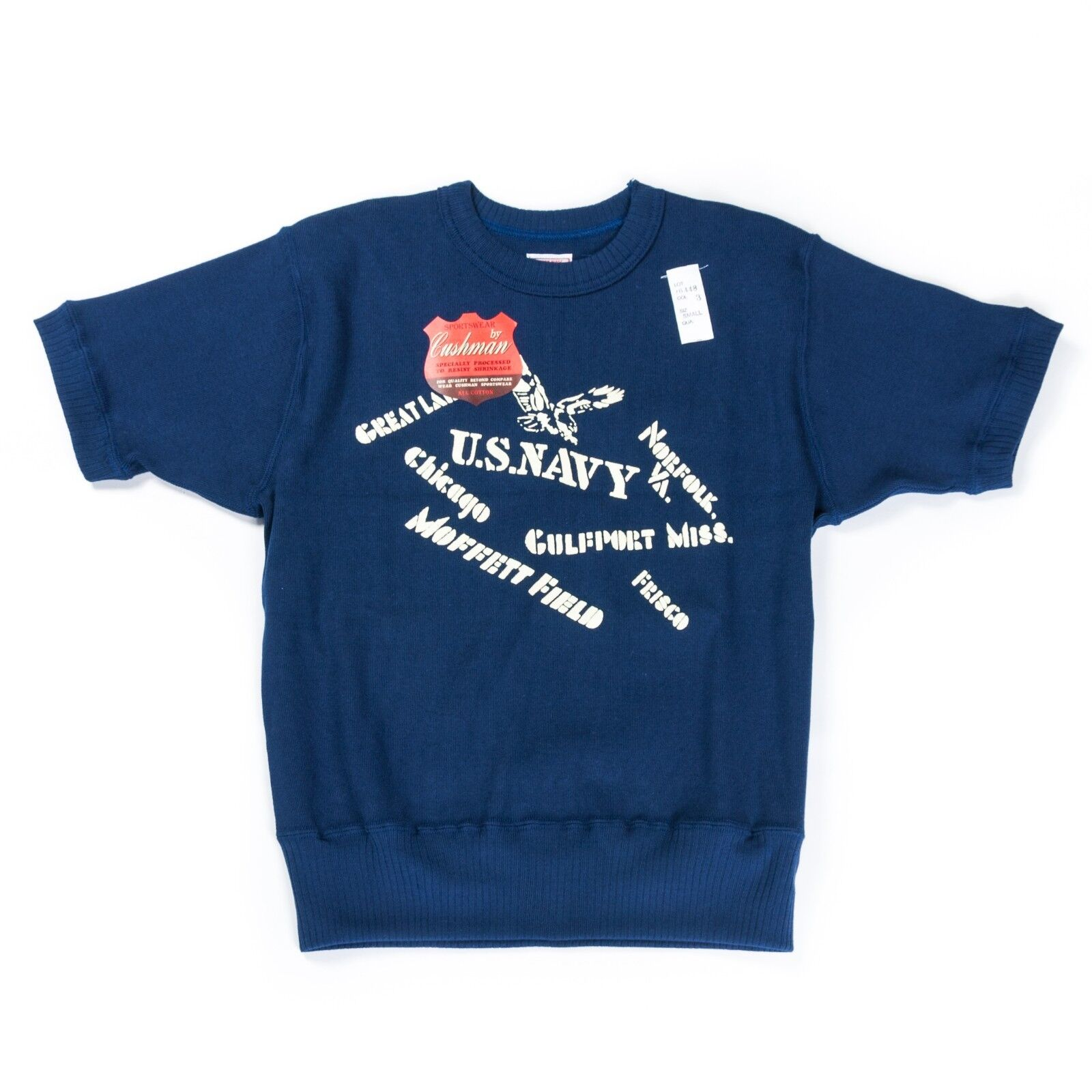 NEW Cushman US Military Heavy Tee Navy Made in Japan Vintage Style