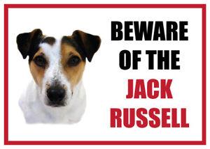 Lustig Beware Of The Jack Russell Hund Vinyl Auto Lieferwagen Abziehbild