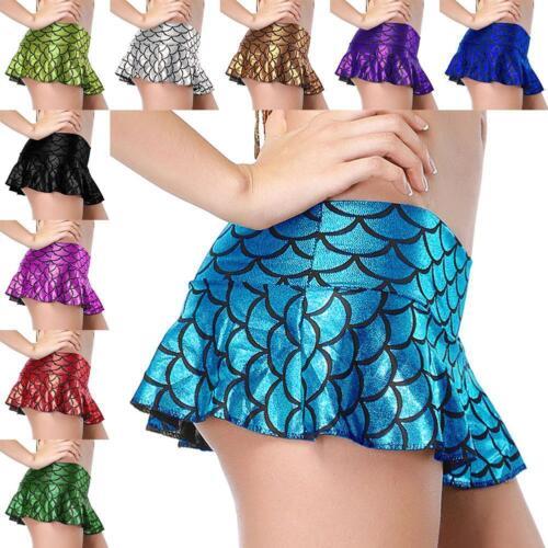 Mädchen Frauen Plissee Minirock Schulmädchen Short Micro Dress Leder Dress de