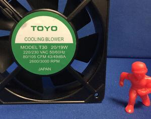 TOYO T30 Aluminum Frame AC Fan 20/19W 220/230VAC 50/60HZ