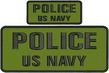 POLICE US NAVY embroidery patches 4x10 And 2x5 hook