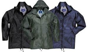 Portwest-Lluvia-Impermeable-Sobre-Capa-Chaqueta-Negro-Verde-Azul-Marino-S-4xl