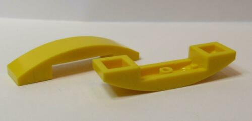 2 Slope LEGO Parts Curved 4 x 1 Double No Studs 93273 YELLOW