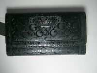 Guess Women's Polished Slg Trifold Clutch Wallet Black