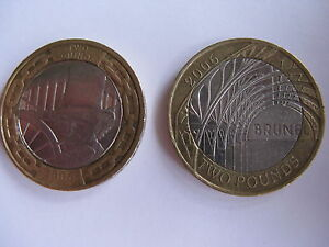 2 x Rare 2 Two Pound Coins Brunel  Man amp Achievements Head Paddington 2006 - <span itemprop=availableAtOrFrom>Blackpool, United Kingdom</span> - 2 x Rare 2 Two Pound Coins Brunel  Man amp Achievements Head Paddington 2006 - Blackpool, United Kingdom