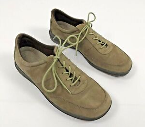 Easy-Spirit-Women-039-s-Lace-up-Comfort-Casual-Suede-Shoes-Light-Brown-Green-Size-9
