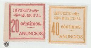 Spain-Cinderella-revenue-fiscal-Stamp-10-31-mnh-Gum