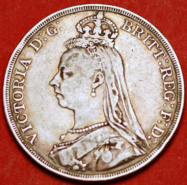1887 Crown silver Victoria Great Britain KM#765
