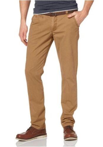 w31 w30 w32 l32 caballeros Pants oscuro beige John Devin pantalón con cinturón nuevo w29