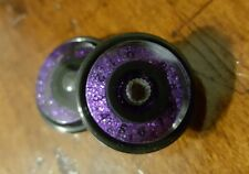 2 Guitar Speed Grip Speed Knobs... Purple Flake/Black.. JAT CUSTOM GUITAR PARTS