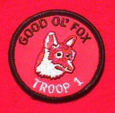 GOOD OL FOX Round Patrol Patch Wood Badge Course Cub Boy Scout beads BSA