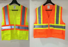 Yellow Orange Neon Safety Vest Reflective High Visibility Road Work Construction