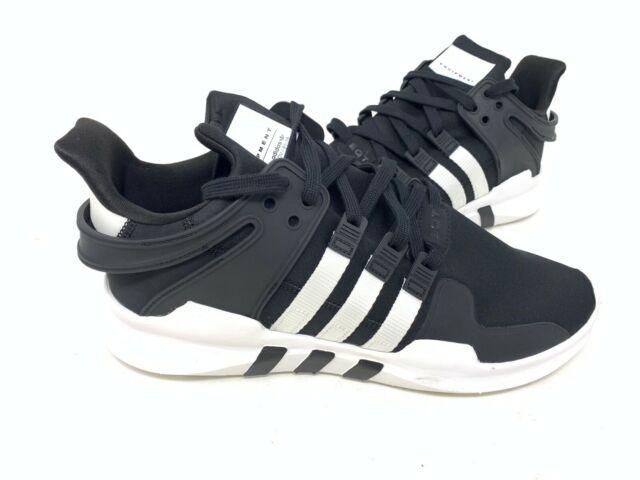 new concept b9645 59826 NEW! Adidas Men's Originals EQT Support ADV Shoes Black/WHite #B37351 156U  tz
