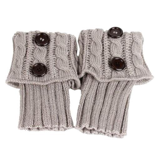 Socken Gestrickter Verdrehter Beinwaermer Kurzer Stiefel Abdeckung Warme L J4