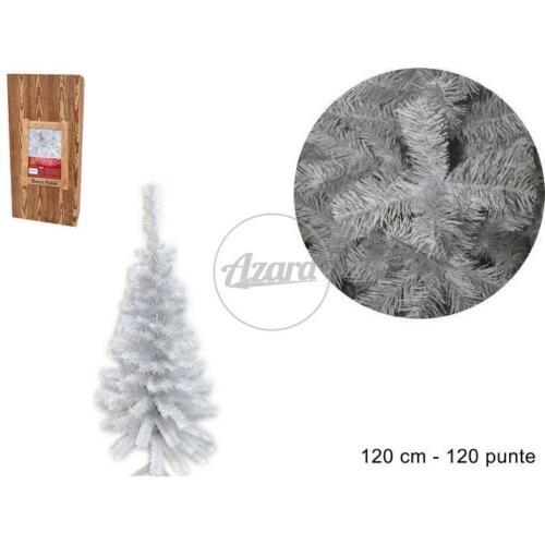 Albero natale abete bianco natale 120 cm rami addobbi natalizi