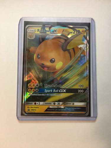 Pokemon Hidden Fates SM213 Ultra Rare Promo M//NM Raichu GX