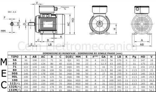 Motor Elektrischer 2 hp 1,5kW 2 Pole 2800 Runde Mec 80 B3 Uv-Gel 220V Kompressor