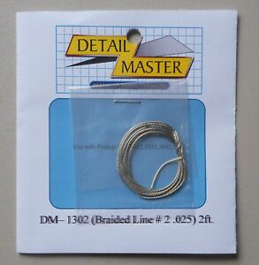 BRAIDED-LINE-2-1-24-1-25-DETAIL-MASTER-CAR-MODEL-ACCESSORY-1302-025-Diameter