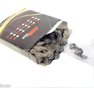"""Bicycle Bike Chain Single Speed -1/2"""" x 1/8"""" For BMX And Single Speed Bicycle"""